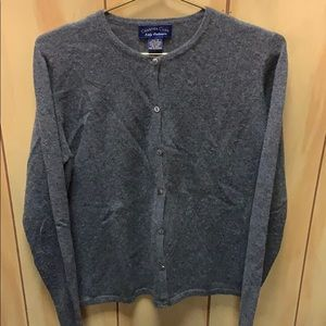 Charter Club 2-ply cashmere button up sweater